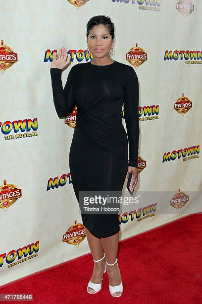 Toni Braxton attends 'Motown The Musical' opening night at the Pantages Theatre on April 30 2015 in Hollywood California