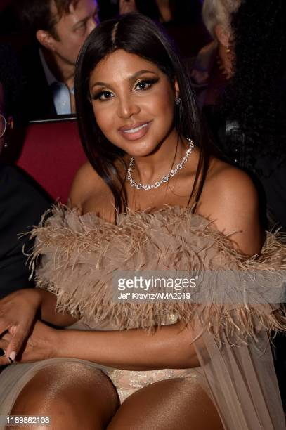 Toni Braxton attends the 2019 American Music Awards at Microsoft Theater on November 24, 2019 in Los Angeles, California.