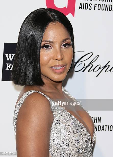 Toni Braxton attends the 23rd Annual Elton John AIDS Foundation Academy Awards Viewing Party on February 22 2015 in West Hollywood California