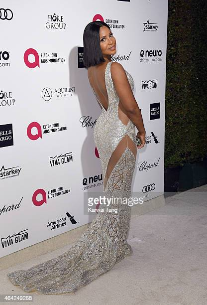 Toni Braxton attends the Elton John AIDS Foundation's 23rd annual Academy Awards Viewing Party at The City of West Hollywood Park on February 22 2015...