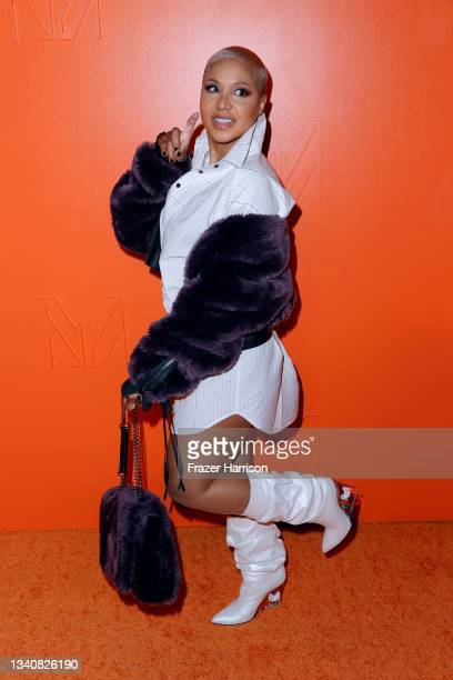Toni Braxton attends the MARCELL VON BERLIN Spring/Summer 2022 Runway Fashion Show on September 16, 2021 in Los Angeles, California.