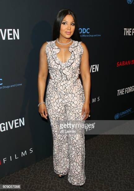 Toni Braxton attends the premiere Of Saban Films' 'The Forgiven' held at Directors Guild Of America on March 7 2018 in Los Angeles California
