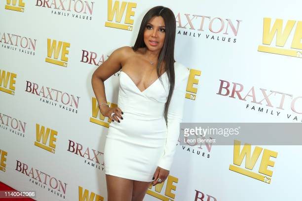 "Toni Braxton attends WE tv's ""Braxton Family Values"" Season 6 Premiere at The Doheny Room on April 02, 2019 in West Hollywood, California."