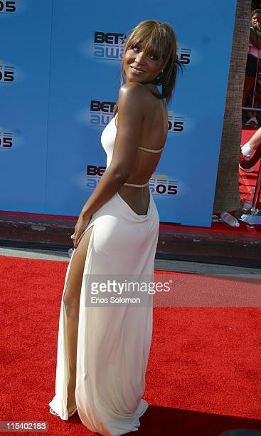 Toni Braxton during 2005 BET Awards Arrivals at Kodak Theatre in Los Angeles California United States