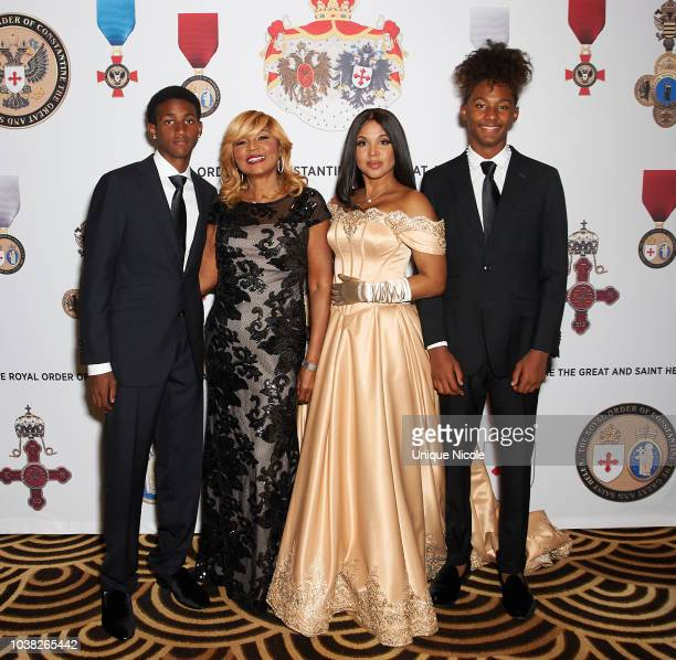 Toni Braxton, her mother Evelyn Braxton and two sons , Denim and Diezel Braxton-Lewis attend the Royal Order Of Constantine Hosts A Royal Evening In...