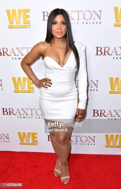"Toni Braxton is seen as We TV celebrates the premiere of ""Braxton Family Values"" at Doheny Room on April 02, 2019 in West Hollywood, California."