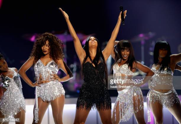 Toni Braxton performs onstage at the 2017 Soul Train Awards, presented by BET, at the Orleans Arena on November 5, 2017 in Las Vegas, Nevada.