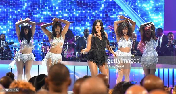 Toni Braxton performs onstage during the 2017 Soul Train Music Awards at the Orleans Arena on November 5 2017 in Las Vegas Nevada