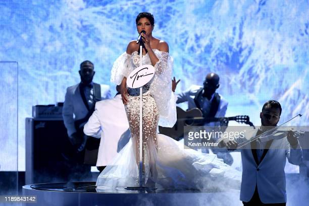 Toni Braxton performs onstage during the 2019 American Music Awards at Microsoft Theater on November 24, 2019 in Los Angeles, California.
