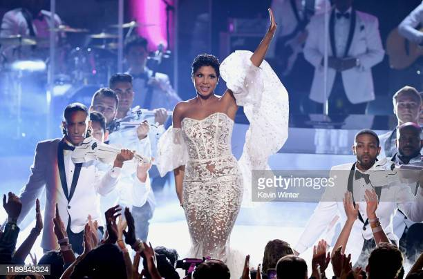 Toni Braxton performs onstage during the 2019 American Music Awards at Microsoft Theater on November 24 2019 in Los Angeles California