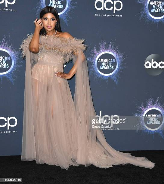 Toni Braxton poses at the 2019 American Music Awards at Microsoft Theater on November 24, 2019 in Los Angeles, California.