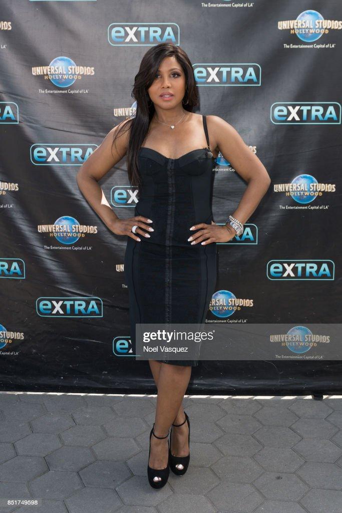 "Toni Braxton Visits ""Extra"""