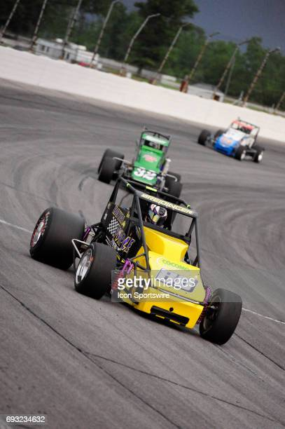 Toni Breidinger Breidinger Motorsports races in the Carb Night Classic United States Auto Club Silver Crown Champ Car Series 100lap feature Friday...