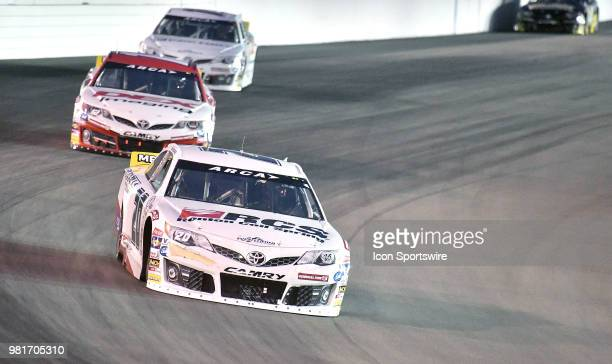 Toni Breidinger of Hillsborough CA driving a Toyota for Venturini Motorsports during the ARCA Racing Series PapaNicholas Coffee 150 on June 22 at...