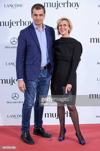Toni Canto and Rosa Diez attend 'Mujer Hoy' awards gala at Palace Hotel on December 16 2014 in Madrid Spain