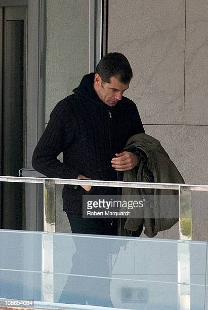 Toni Canto father of Carlota Canto Cobo attends her funeral on January 31, 2011 in Barcelona, Spain.