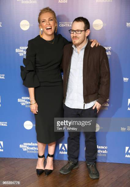 Toni Collette and director Ari Aster attend the 'Hereditary' red carpet arrivals during the Sundance Film Festival at Picturehouse Central on June 1...