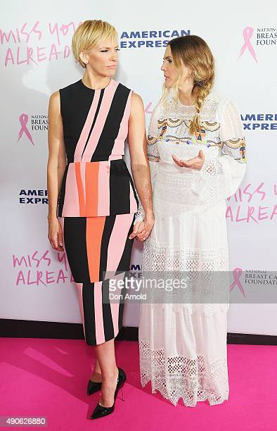 Toni Collette and Drew Barrymore arrive ahead of the 'Miss You Already' gala premiere at the State Theatre on September 30, 2015 in Sydney, Australia.
