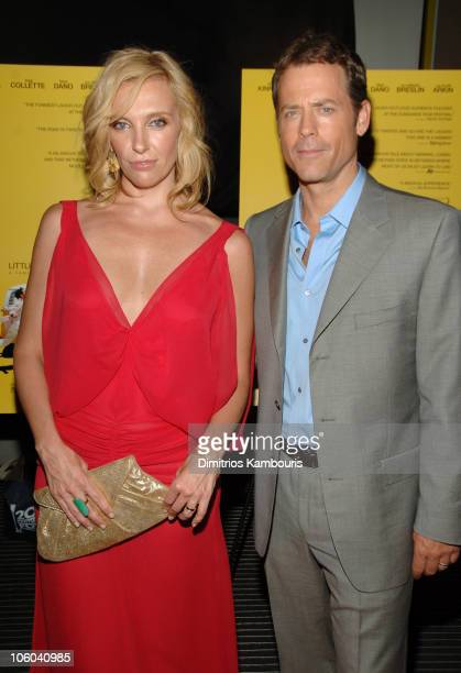 """Toni Collette and Greg Kinnear during """"Little Miss Sunshine"""" New York City Premiere - Inside Arrivals at AMC Loews Lincoln Square in New York City,..."""