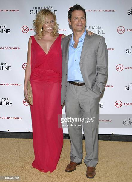 Toni Collette and Greg Kinnear during Little Miss Sunshine New York Premiere Inside Arrivals at AMC Loews Lincoln Square in New York City New York...
