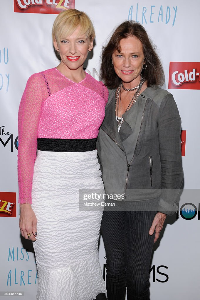 Toni Collette (L) and Jacqueline Bisset attend a Mamarazzi breakfast and talk back event with 'Miss You Already' at The Park Avenue Screening Room on October 27, 2015 in New York City.