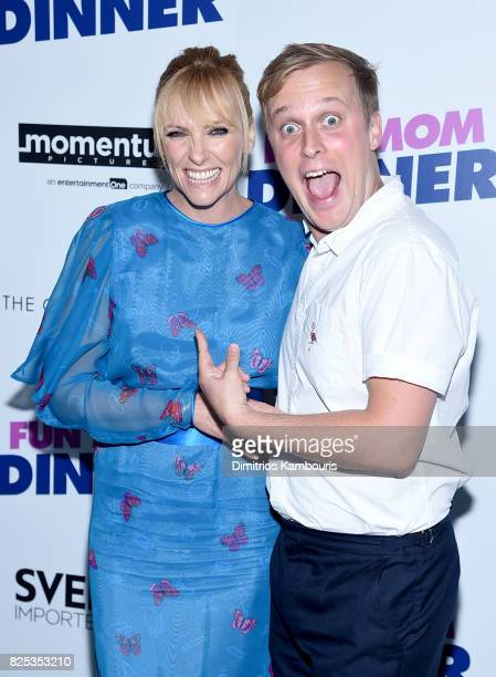 Toni Collette and John Early attend the screening Of 'Fun Mom Dinner' at Landmark Sunshine Cinema on August 1 2017 in New York City