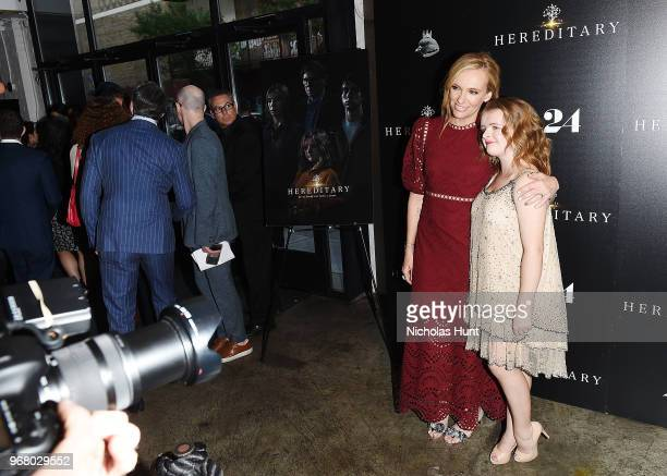 Toni Collette and Milly Shapiro attends the Hereditary New York Screening at Metrograph on June 5 2018 in New York City