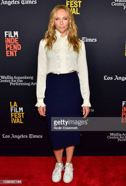 Toni Collette arrives at the 2018 LA Film Festival screening of Netflix's Wanderlust at Wallis Annenberg Center for the Performing Arts on September...