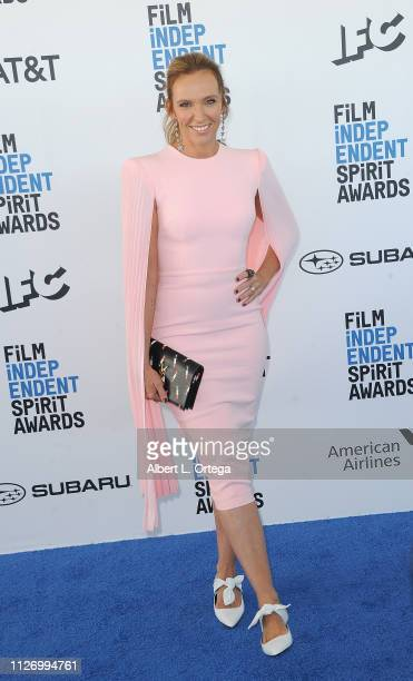 Toni Collette arrives for the 2019 Film Independent Spirit Awards held on February 23 2019 in Santa Monica California