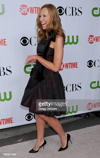 Toni Collette arrives for the CBS CW CBS Television Studios Showtime TCA Red Carpet Party at the Huntington Library in Pasadena California on August...