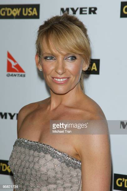 Toni Collette arrives to the 2010 Australia Week Black Tie Gala held at the Grand Ballroom at Hollywood Highland Center on January 16 2010 in...