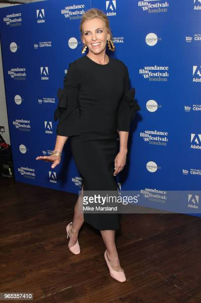 Toni Collette attends the 'Hereditary' screening, part of the Sundance Film Festival: at Picturehouse Central on June 1, 2018 in London, England.