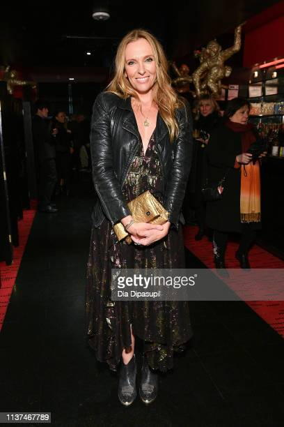 Toni Collette attends the Muriel's Wedding 25th anniversary screening after party during the 2019 Australian International Screen Forum at Shun Lee...