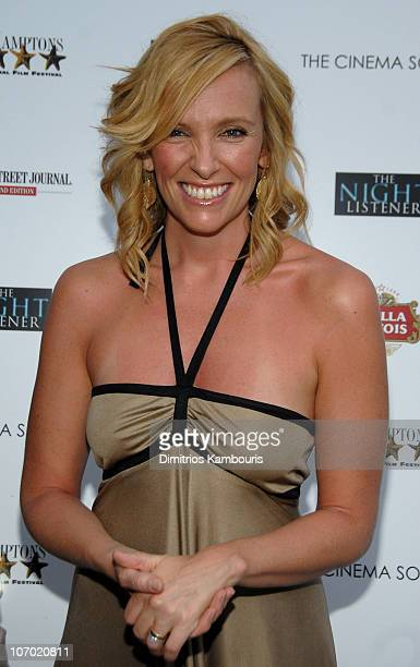 Toni Collette during The Cinema Society and The Wall Street Journal Present a Screening of 'The Night Listener' at UA Theater in East Hampton New...