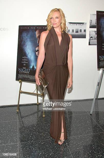 Toni Collette during 'The Night Listener' New York Premiere Arrivals at MoMA 53rd Street in New York City United States