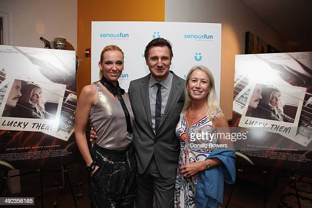 Toni Collette Liam Neeson and Clea Newman attend SeriousFun Children's Network Advance Screening Of The IFC Films Release Lucky Them At The Crosby...