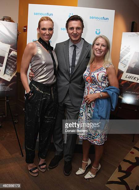 """Toni Collette, Liam Neeson and Clea Newman attend SeriousFun Children's Network AdvanceScreening Of The IFC Films Release """"Lucky Them""""At The Crosby..."""