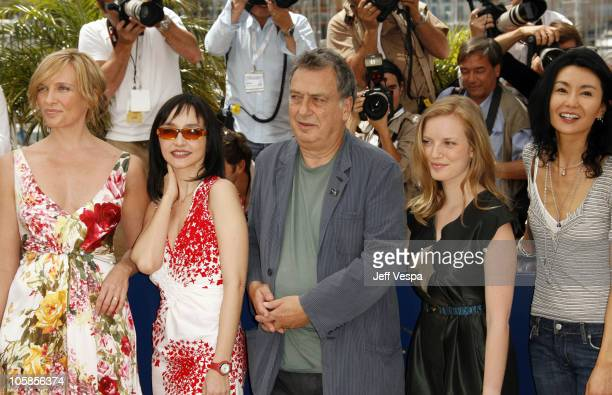 Toni Collette Maria de Medeiros Stephen Frears president of the jury Sarah Polley and Maggie Cheung