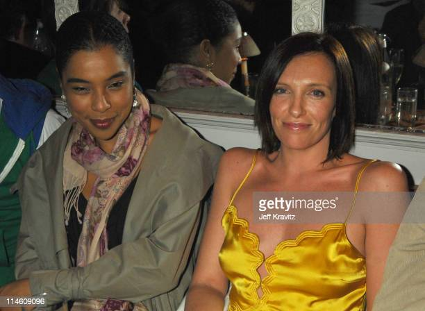 Toni Collette Sophie Okonedo during HBO 2007 PreGolden Globes Party at Chateau Marmont in Los Angeles California United States