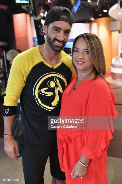 Toni Costa and Adamari Lopez attends the DM3 Press Day Miami Un Nuevo Dia on June 27 2017 in Hialeah Florida