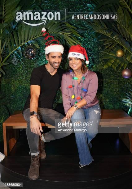 Toni Costa and Adamari Lopez celebrate the holiday season with Fiestas Amazon on November 20 2019 in Miami Florida Toni Costa y Adamari Lopez...