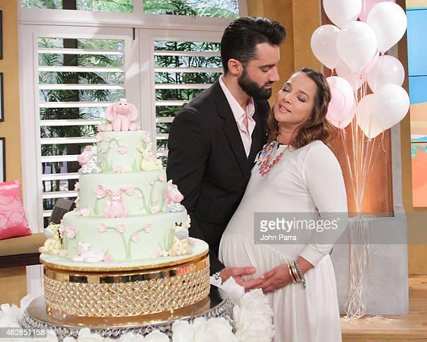 Adamari Lopez Baby Shower At Telemundo Studios Stock Photos And