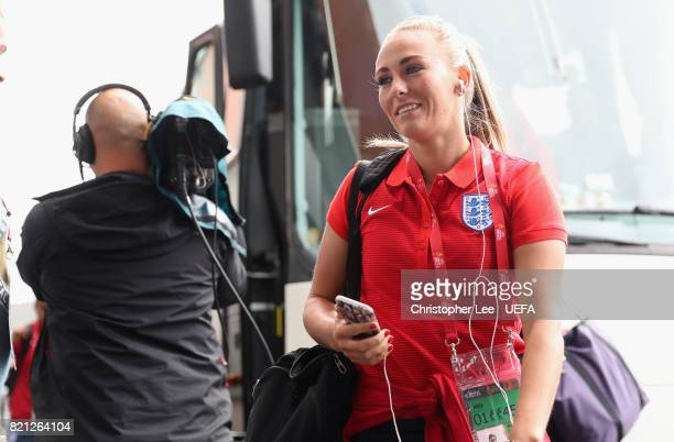 Toni Duggan of England arrives during the UEFA Women's Euro 2017 Group D match between England and Spain at Rat Verlegh Stadion on July 23 2017 in...