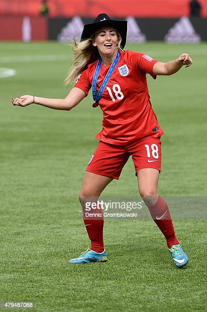 Toni Duggan of England celebrates after the FIFA Women's World Cup Canada 2015 Third Place Playoff match between Germany and England at Commonwealth...