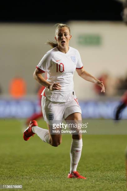 Toni Duggan of England during the International Friendly between England Women and Spain Women at County Ground on April 9 2019 in Swindon England
