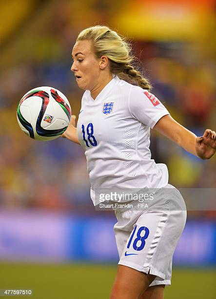 Toni Duggan of England in action during the FIFA Womens's World Cup Group F match between England and Colombia at Olympic Stadium on June 17 2015 in...