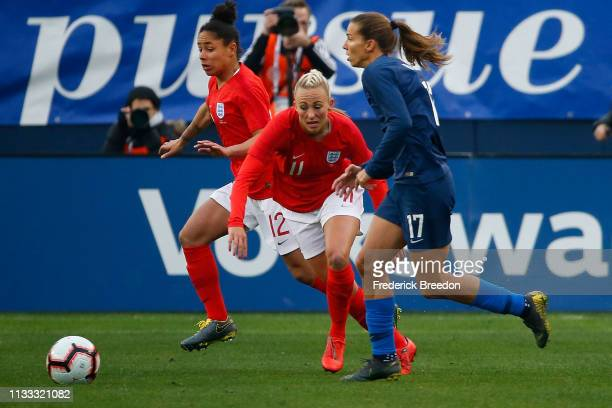 Toni Duggan of England plays in the 2019 SheBelieves Cup match between USA and England at Nissan Stadium on March 2 2019 in Nashville Tennessee