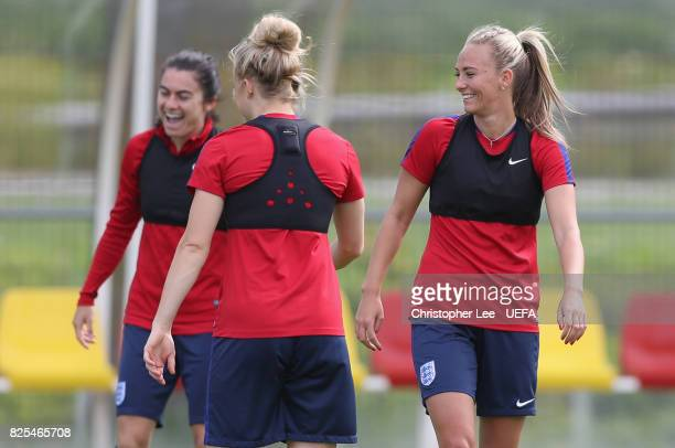 Toni Duggan of England smiles during the England Training Session at Sporting 70 on August 2 2017 in Utrecht Netherlands