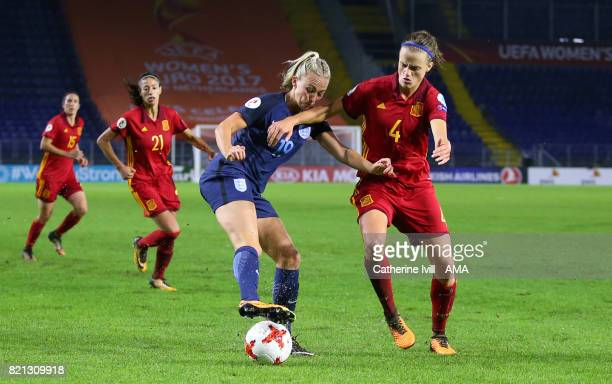 Toni Duggan of England Women and Irene Paredes of Spain Women during the UEFA Women's Euro 2017 match between England and Spain at Rat Verlegh...