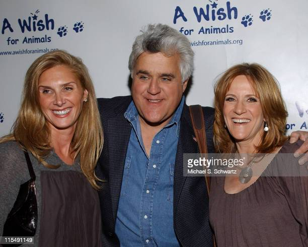 Toni Eakes Jay Leno and Carol Leifer attend A Wish for Animals benefit at the Laugh Factory on February 12 2008 in Los Angeles CA